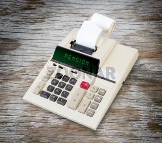 Old calculator - pension