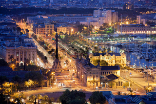 Night in the City of Barcelona