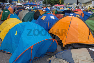 Tents on the road