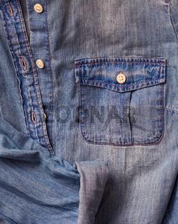 Jeans shirt close up