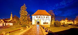 Old Varazdin landmarks evening view