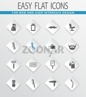 Barbershop icons set