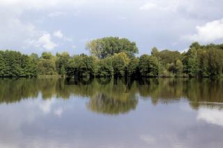 Waldspiegelung. Deutschland
