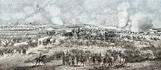 Battle of Dybbøl, a battle of the Second Schleswig War, 1864