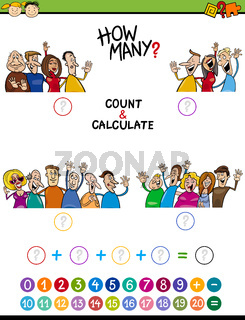 math task for preschool children