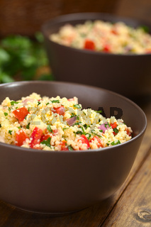 Fresh Homemade Tabbouleh, an Arabian Salad with Couscous