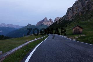 Alpine road in Dolomites