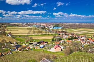 Ludbreg vineyard hills and valey