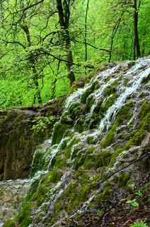 Guetersteiner Wasserfall am Albtrauf der Schwaebischen Alb