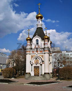 Saint Catherine's chapel on Labor Square Yekaterinburg