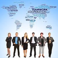 Internationale Zusammenarbeit im Business Team