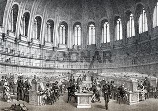 The British Museum Reading Room, British Library, 19th century, London, England