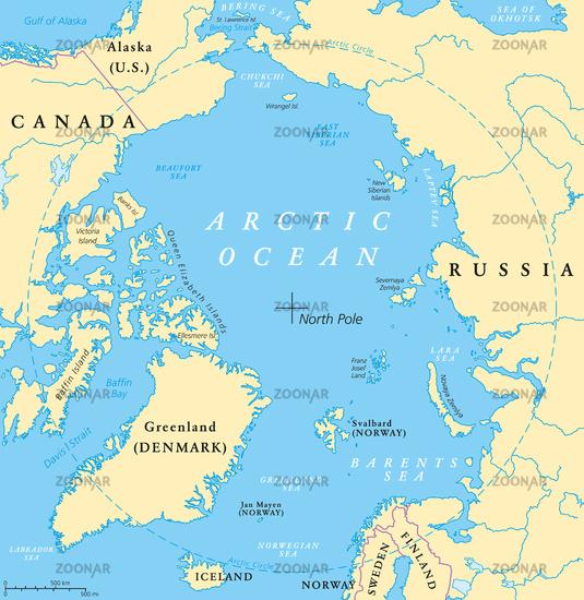 Arctic Ocean Map