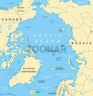 Arktischer Ozean Landkarte