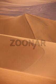 Sand dunes near Huacachina, Ica region, Peru.
