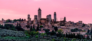 San Gimignano in the evening light