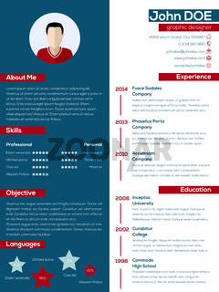 Modern resume cv with pastel colors