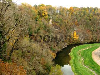 Fluss Eyach bei Haigerloch, Nebenfluss des Neckar