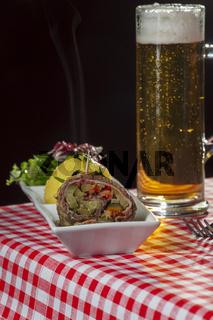 Roulade mit Bier