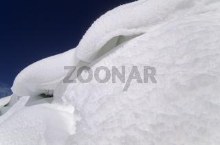 Schneewehe in Schleswig-Holstein / Snowdrift in Northern Germany / Kreis Steinburg am Schierenwald