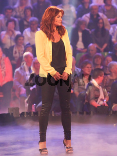 Sängerin Andrea Berg in der TV Show 'DAS GLÜCKWUNSCHFEST–SILBEREISEN GRATULIERT' 20.2.16 in Riesa