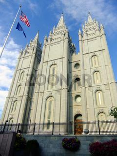 Temple of The Church of Jesus Christ of Latter-day Saints in Salt Lake City, Utah