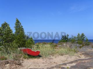 Fäboden, an der Ostseeküste in Finnland