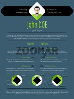Cool dark modern resume cv template