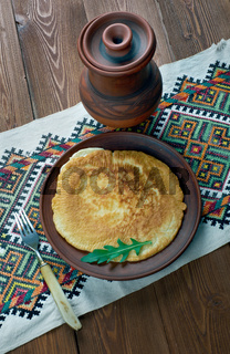Russian traditional omelet