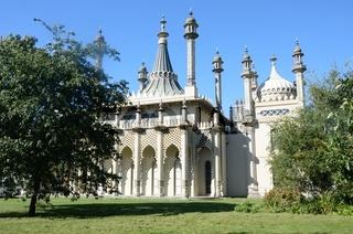 Brighton Pavilion with lawn