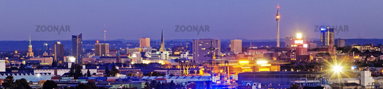 panorama of the city with Florian Tower, Dortmund