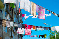 Typical drying clothes, Georgia