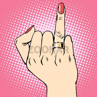 bride gold wedding ring