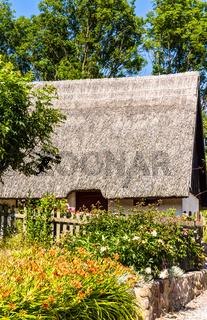 Traditionelles Reetdachhaus in Vitt auf Rügen
