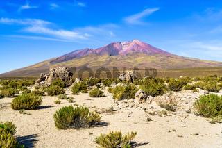 Mountain and desert