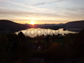 Sonnenaufgang, Edersee, Impression, Morgenstimmung