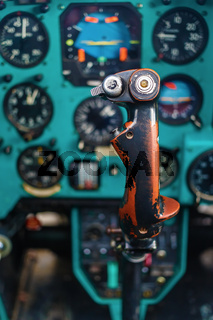 Control stick of helicopter