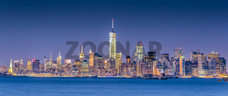 New York City Manhattan downtown skyline