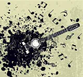 Retro a guitar