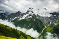 summer mountain stormy landscape