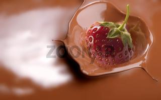 Schoko-Erdbeere