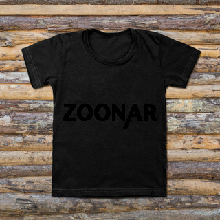 Black blank t-shirt on wooden background