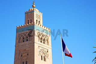 history  maroc africa  french waving  sky
