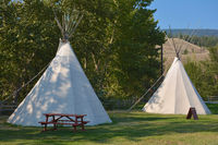 Tipi Zelt in British Columbia