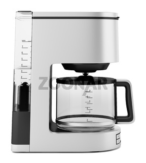 drip coffee machine isolated on white background