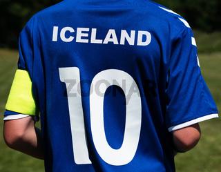 Fußballtrikot Island