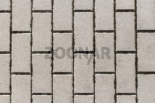 Grey concrete paving