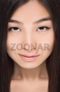 Face of Asian lady