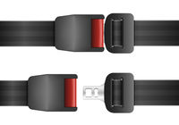 open and closed seatbelt