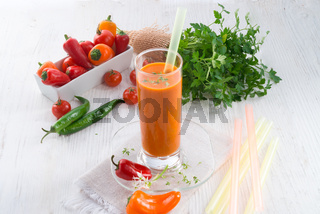 red paprika smoothie